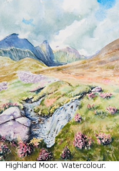 Highland Moor (watercolour)