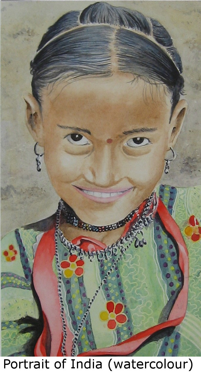 Portrait of India (watercolour)