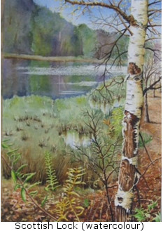 Scottish Loch (watercolour)